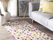 Teppich Leder bunt 80 x