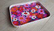 Tablett Küchentablett Blumenmuster 43 x