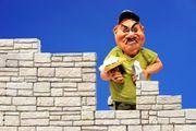 Maurerhelfer oder Maurer für Mauerarbeiten