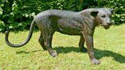 Schwarzer Panther Garten Gartendekoration Figur