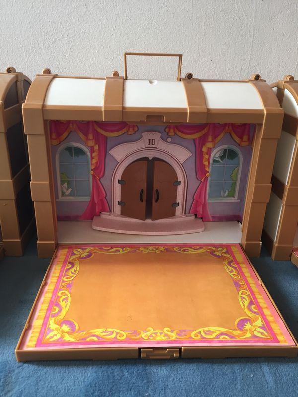Playmobil Schatzkisten 3 Stück - Starnberg - Playmobil Schatztruhen, 3 Stück mit Kulisse Schloss, Burg und tragegriff zur Aufbewahrung von Spielzeug, Porto 8 Euro - Starnberg