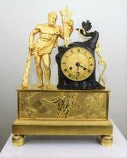 Antike Französische Figurenuhr Kaminuhr Kaminpendule