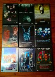 9 DVDs zwei VHS und