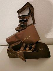 Gucci Damen Sandalen schwarz braun