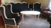 Barock Sessel Sofa Tisch
