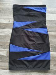 Kleid stretch blau schwarz nie