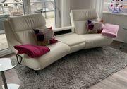 Heimkino-Sofa von Himolla Leder weiß