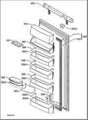 verschiedene Ersatzteile für Kühlschrank AEG