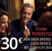 IQOS 30 Gutschein RDMGYQ