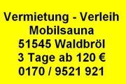 Mobilsauna Oberberg - Waldbröl - Gummersbach - Wiehl -