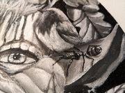 Bild Gemälde Handgemaltes Acrylbild Borke