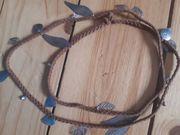 Braune lange Leder Kette Halskette