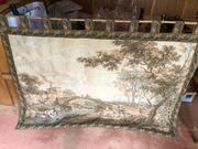 Schöner alter Wandteppich Gobelin 153x115