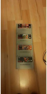 4x Nintendo SNES Spiele - Captain