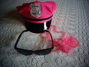 Schirmmütze Mütze pink Sonnenbrille und