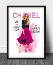 Wandbild Poster Kunstdruck Chanel