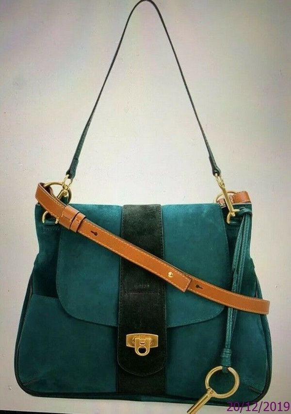 Chloe Lexa Green Crossbody Tasche