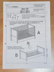 Mini Meise Kinderbett umbaubar Gitterbett