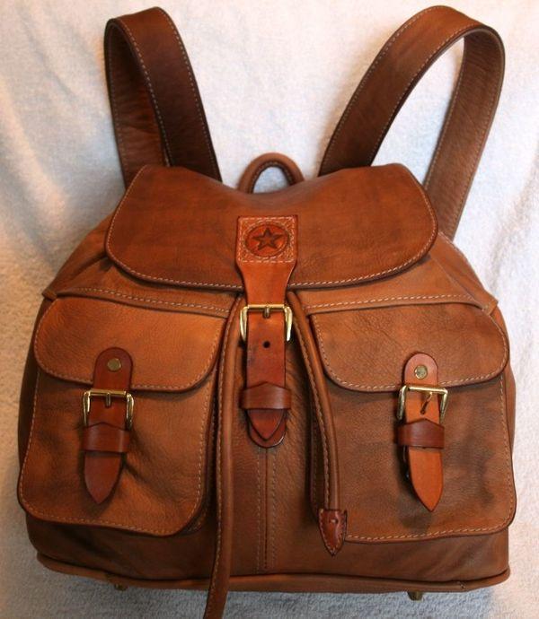 Echtes Leder Rucksack Neue Einzelstück