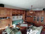 Wohnzimmerschrankwand Eiche rustikal teilmassiv auch