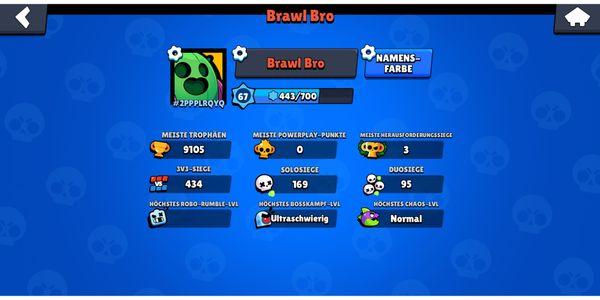 Brawl stars account legendärer brawler