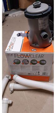 BESTWAY Flowclear Poolpumpen grau