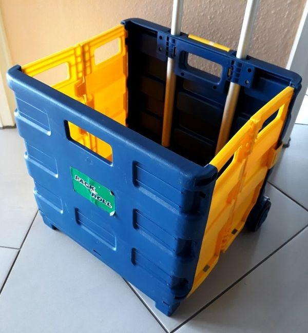 fahrbare Klappbox Pack und Roll