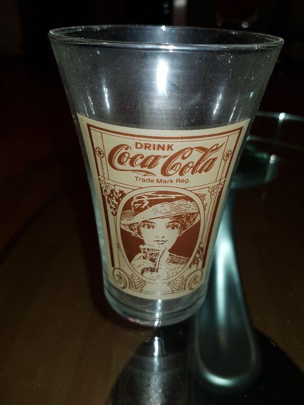 6 Vintage Coca Cola Gläser zu verkaufen