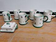 Gmundner Keramik Steublumen 7 Teilig