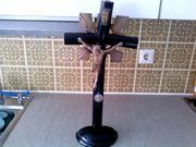 Kreuz antik Kruzifix zum Stellen