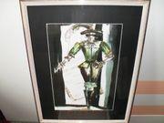Kunstdruck mit Glas-Rahmen