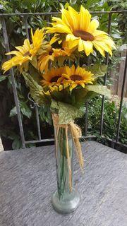 Sonnenblumen ohne Glas Bodenvase mit