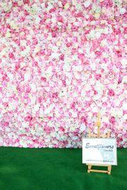 VERLEIH VERKAUF 3D Blumenwand Pink