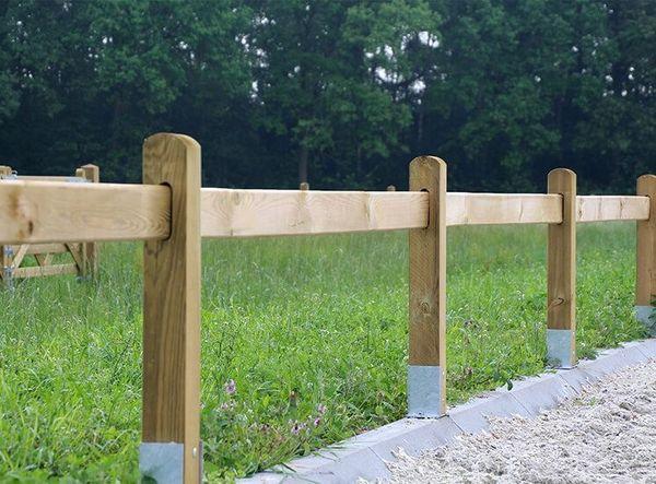 114 Dressurviereck Holz Pferdezaun Holzzaun