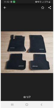 Mercedes-Benz Fußmatten schwarz mit AMG-Logo