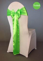 grüne Satin Stuhlschleifen verleih Stuhlbänder