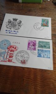 Briefmarken Ersttags kuverts 10 Stück