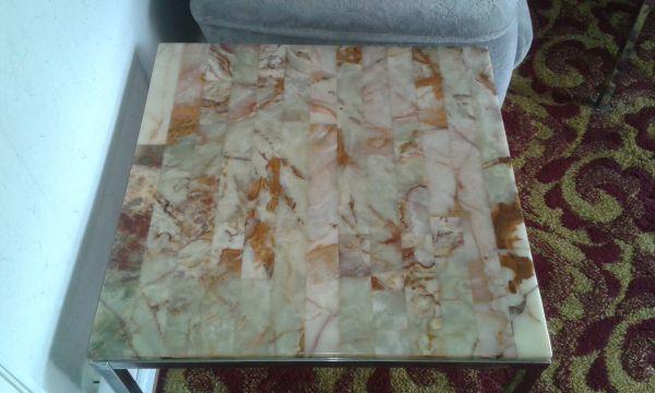 Couchtisch mit Onyx Marmorplatte original