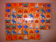 Domino Spiel mit bunten Tieren