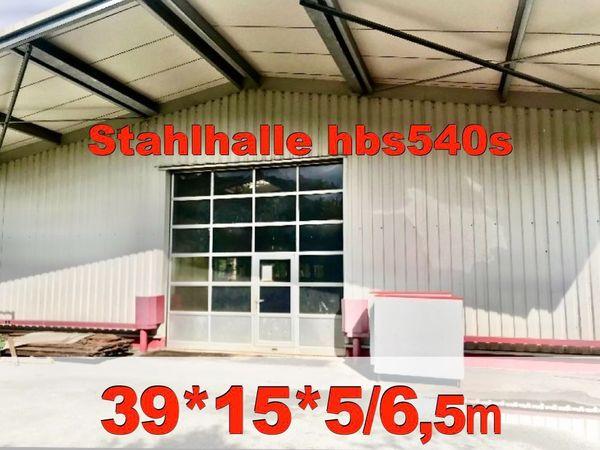 Stahlhalle 15x39x5m Werkstatthalle aus Abbruch