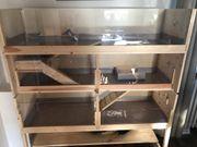 Kleintier Stall selbstgebaut