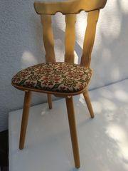 7 Stck Polster-Massivholz-Stühle - neu -