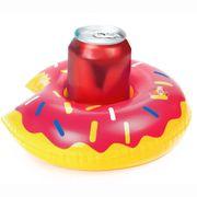 NEU Aufblasbarer Getränkehalter im Donut-Design