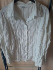 Bluse - Damen - langarm - OKAY - Gr 46 - weiß