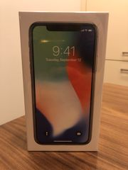 iPhone X 256GB silver OVP