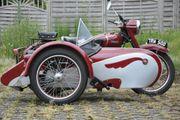 Oldtimer Gespann Triumph TRW500 Bj54