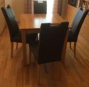 Buche Tisch mit 4 Stühlen