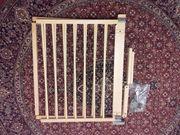 Treppengittertür für Harfentreppe geeignet