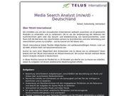 Media Search Analyst m w