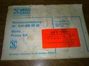 Betriebsanleitungs Heft für Hercules Prima